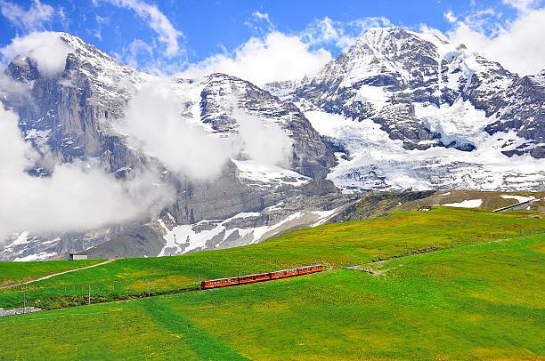 Cogwheel train from Jungfraujoch station. – Foto