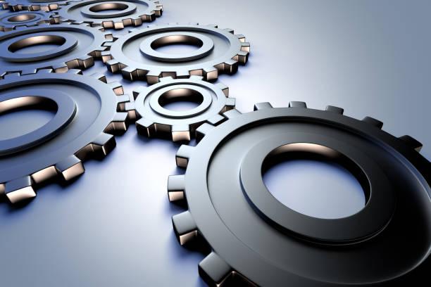 業界を代表し、工学概念の歯車 ストックフォト