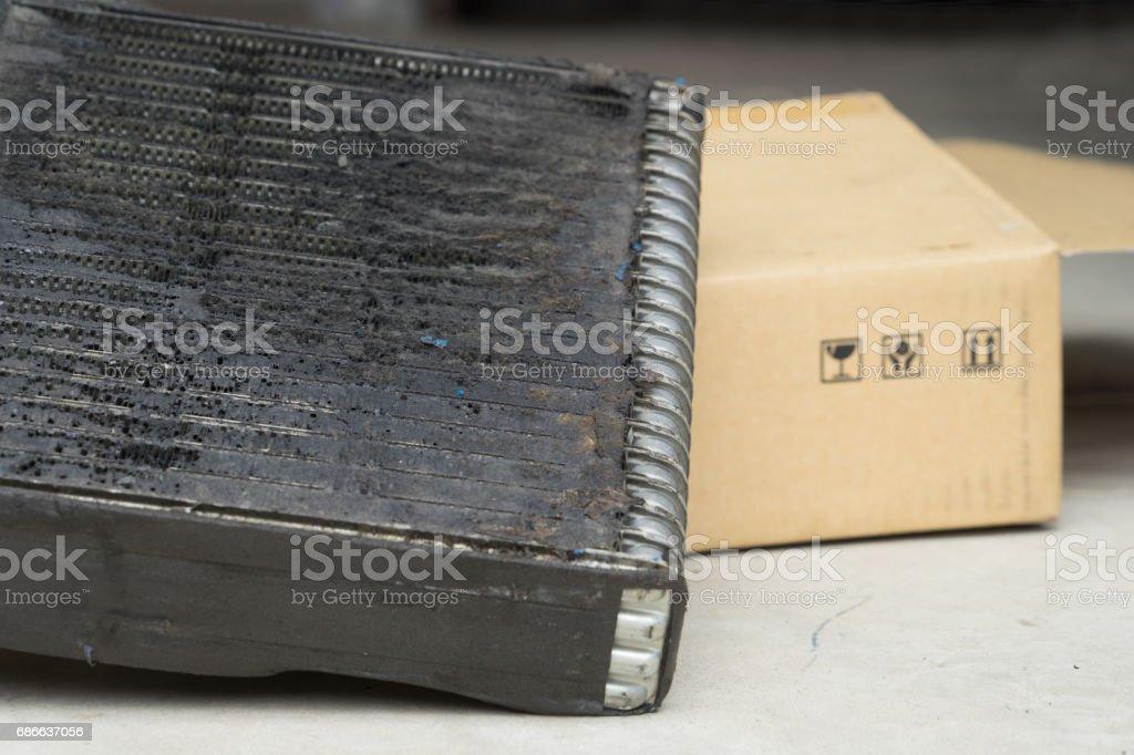 線圈空氣條件下汽車損傷修復細菌 免版稅 stock photo