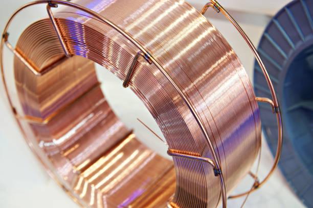 Coil copper wire stock photo