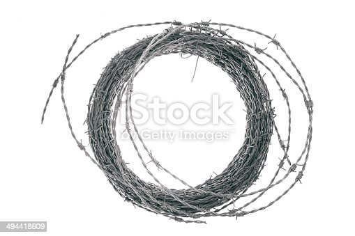 Barbed Wire in a coil