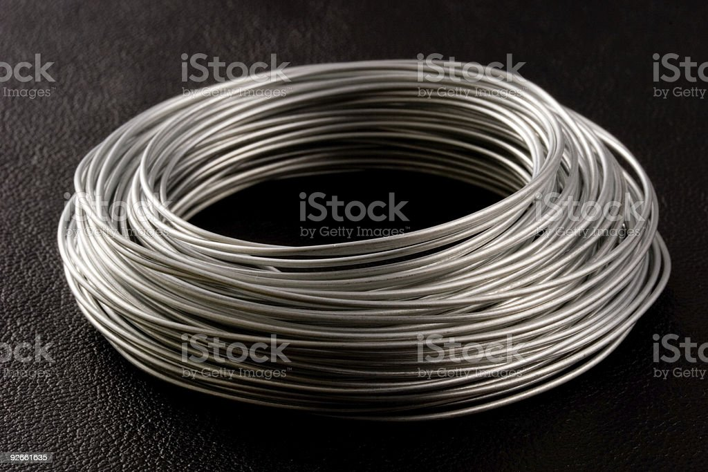 Coil of wire royalty-free stock photo