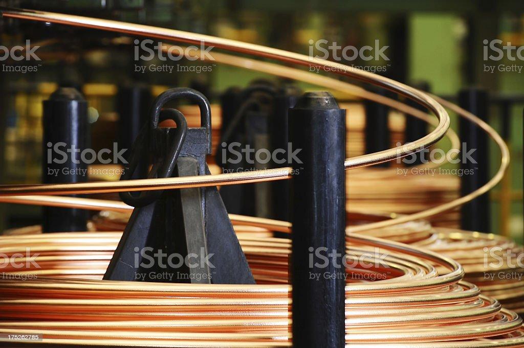 Coiled copper stock photo