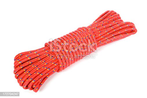 Coiled nylon climbing rope