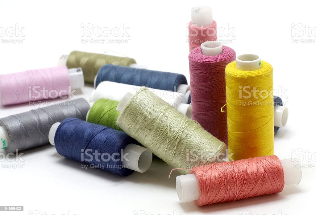Coils of colour threads royalty-free stock photo
