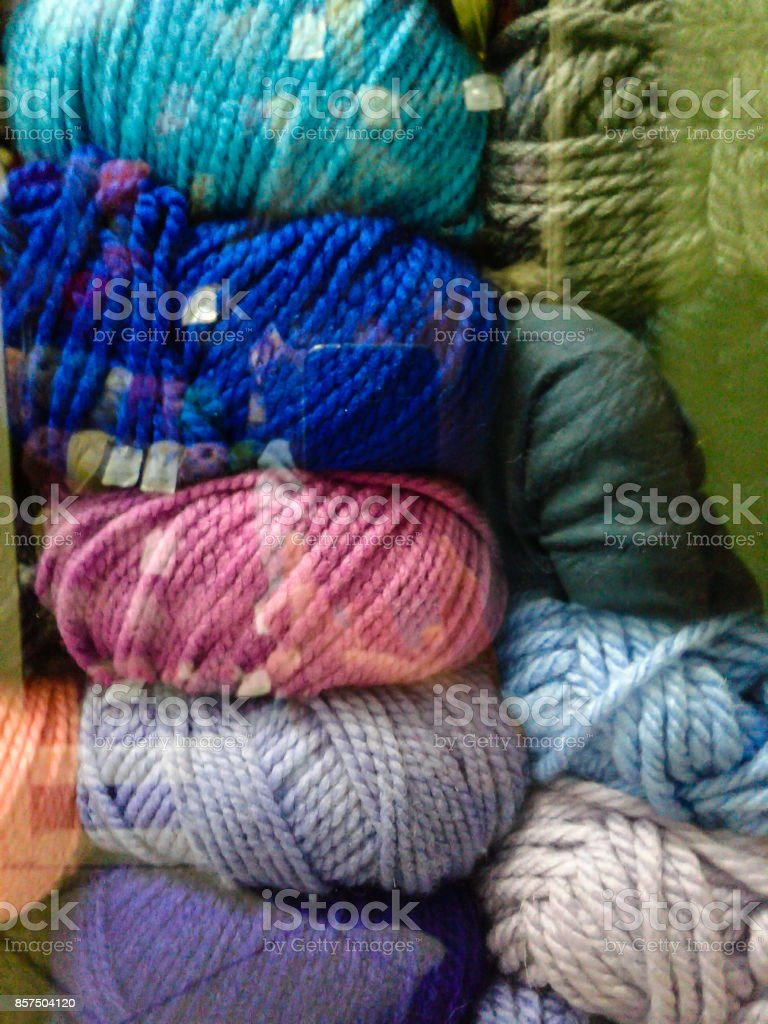 Coils of thick thread stock photo