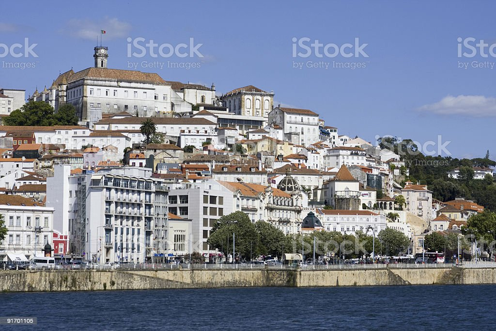 Coimbra from the river stock photo