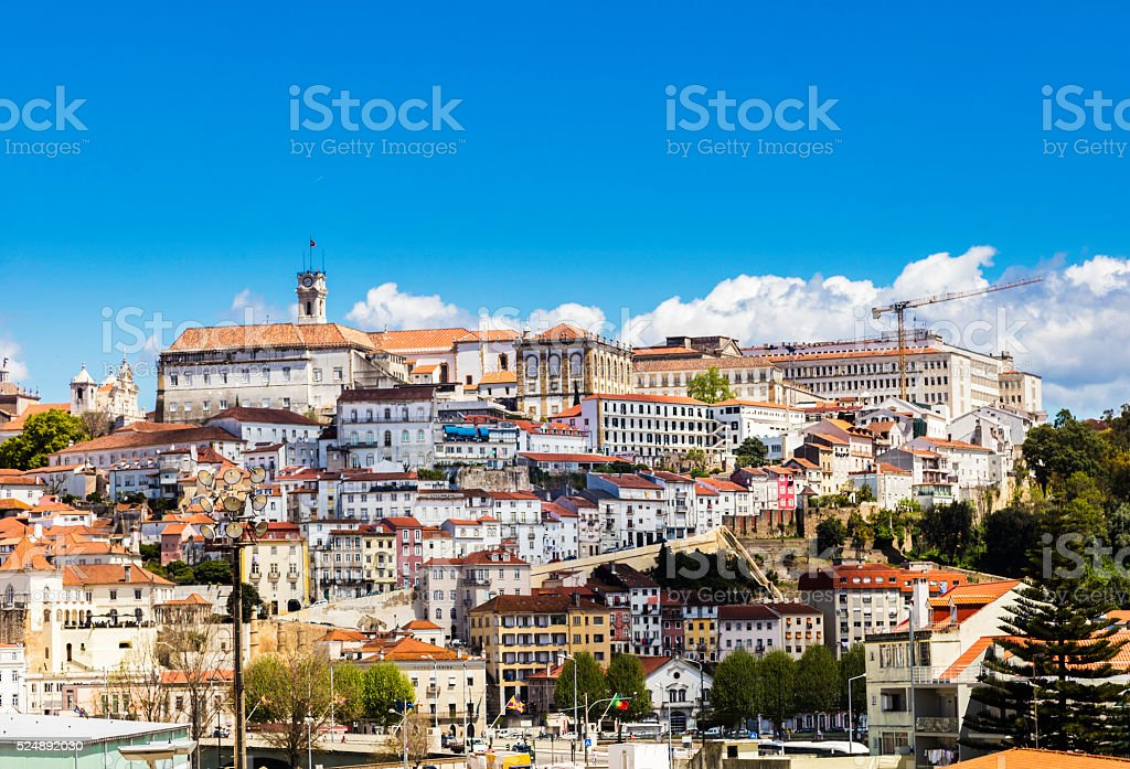 Coimbra University cityscape in Portugal stock photo