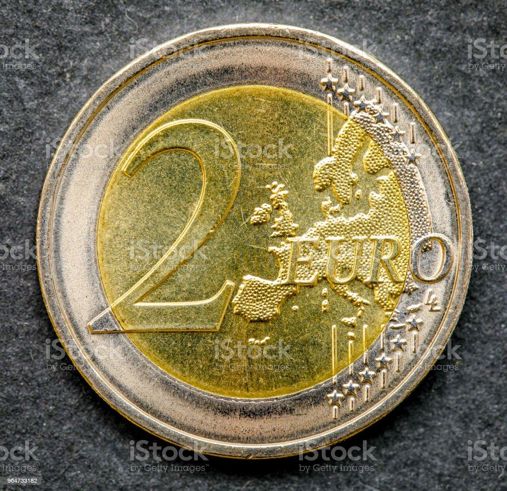 coin 2 euros reverse, common royalty-free stock photo