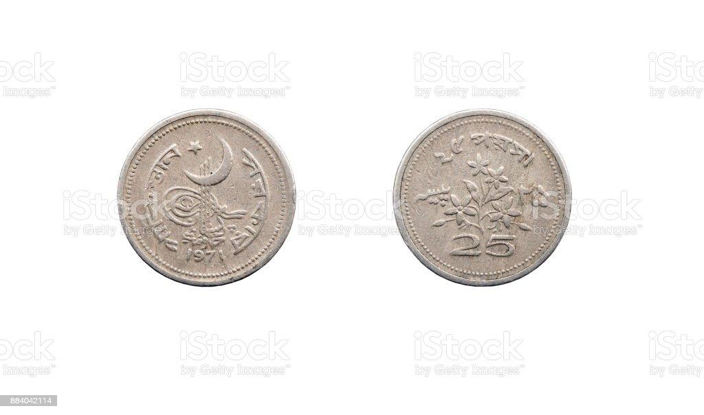 Coin 50 paise. The Islamic Republic of Pakistan. 1971 stock photo