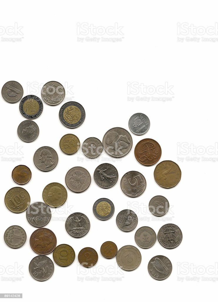 Coin backgrounds royalty-free stock photo