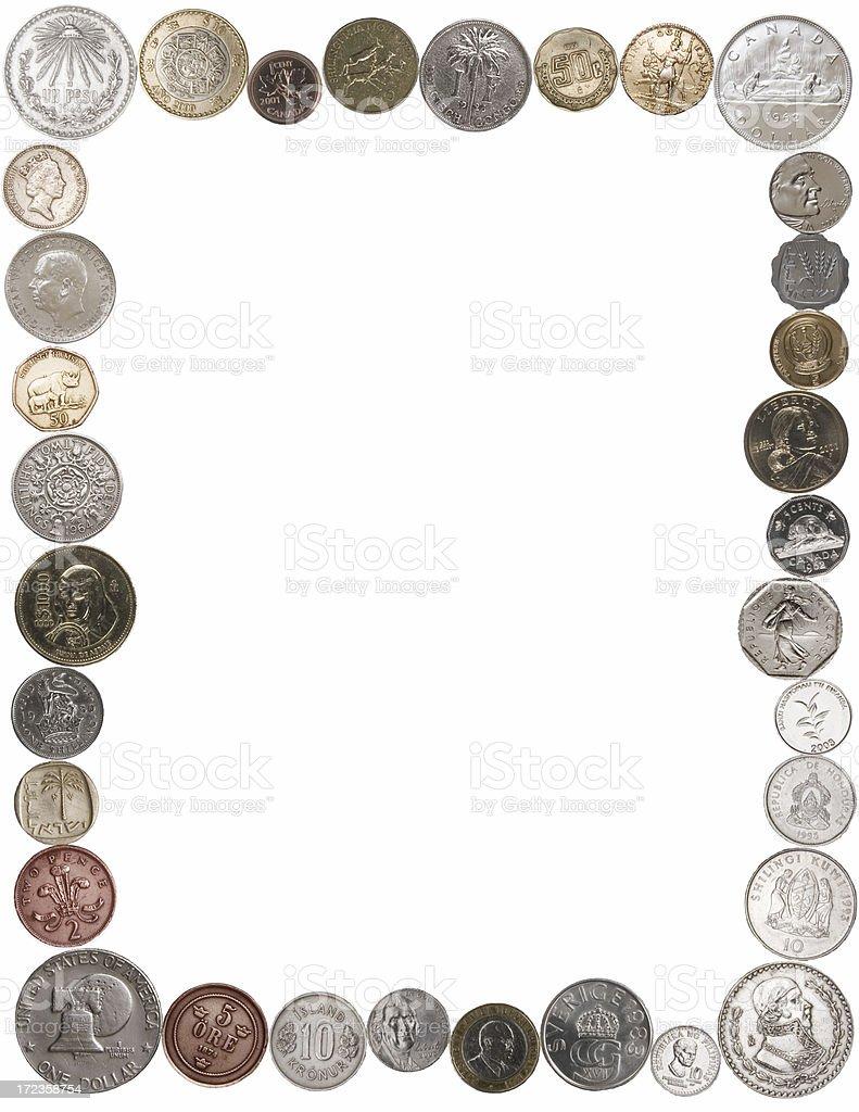 Coin Border royalty-free stock photo
