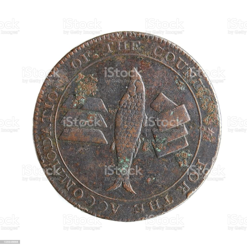 Coin - British Token from Cornwall, 1811 royalty-free stock photo