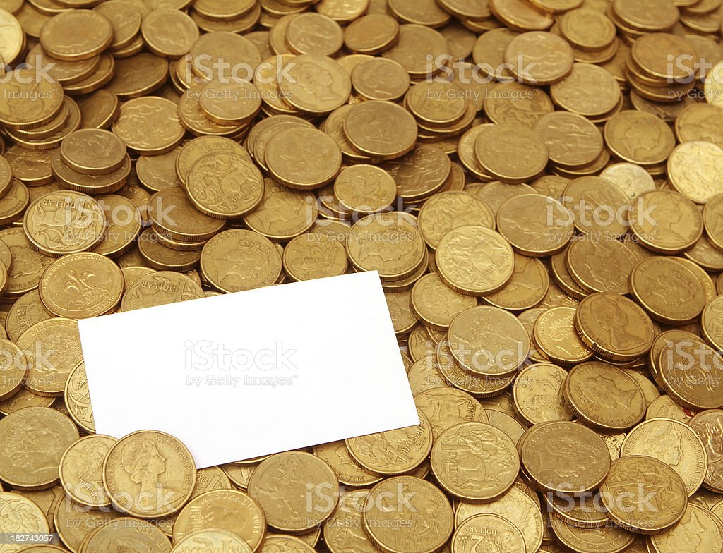 Coin Business Card stock photo | iStock