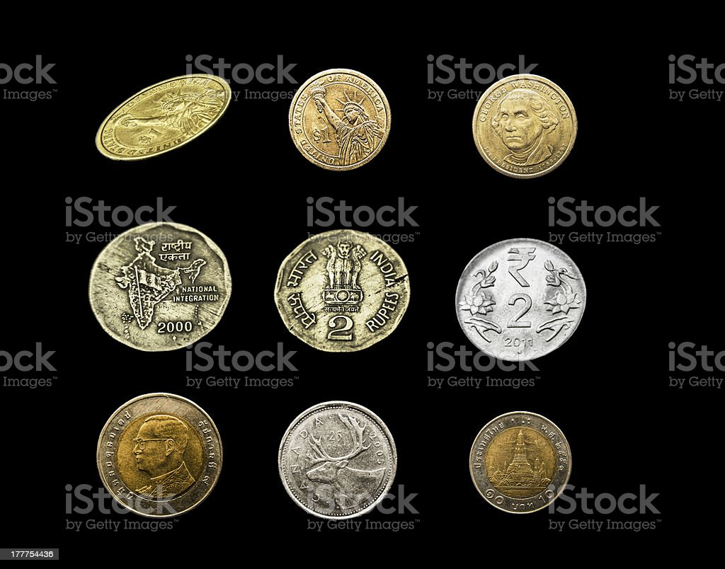 Coin Collection royalty-free stock photo