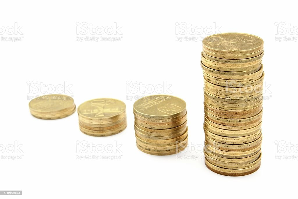 Coin columns representing business growth royalty-free stock photo