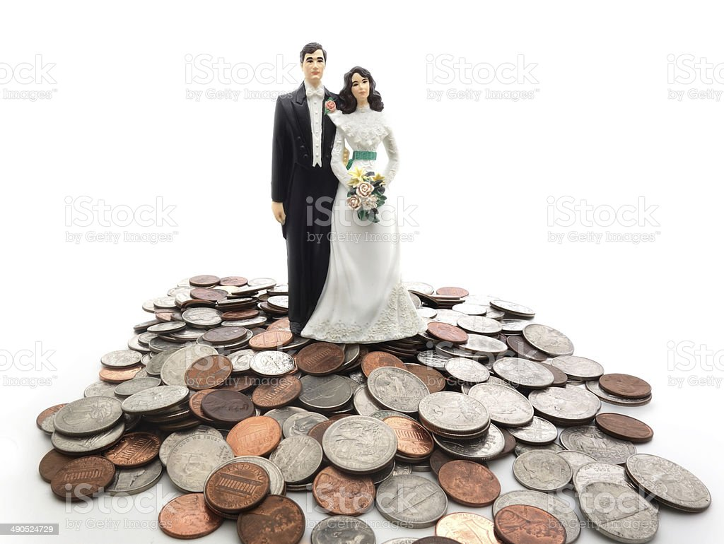 coin couple stock photo