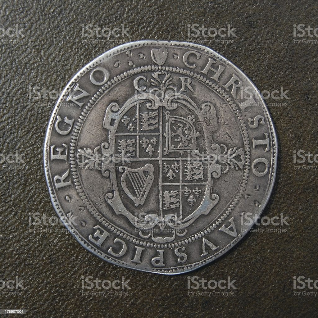 Coin - Crown of King Charles I, reverse royalty-free stock photo