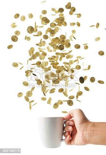 467271788 istock photo coin falling in white cup, Financial concept 535166279