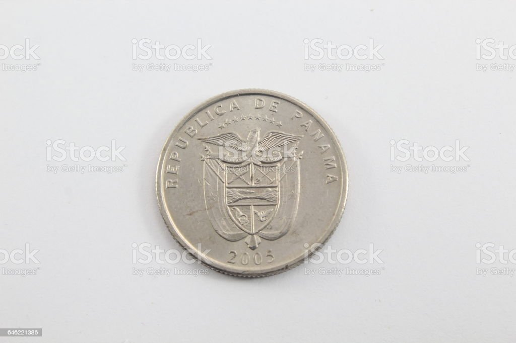 Coin from Panama stock photo