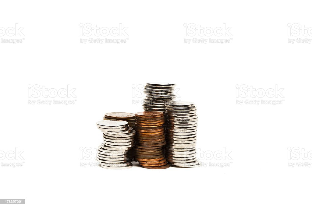 Coin graphic - Stock Image stock photo