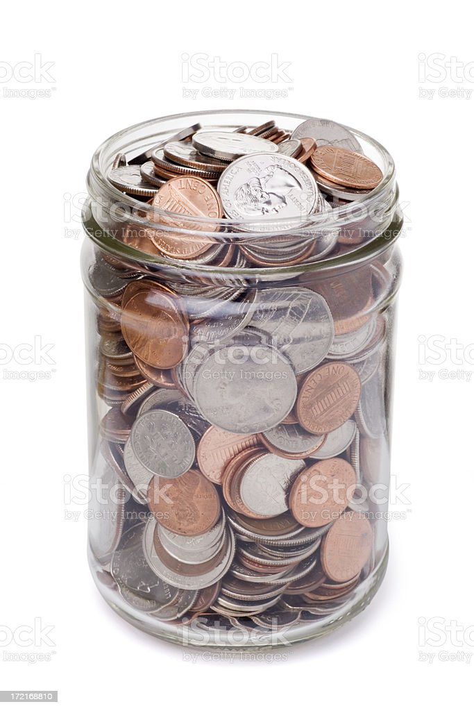 Coin Jar royalty-free stock photo