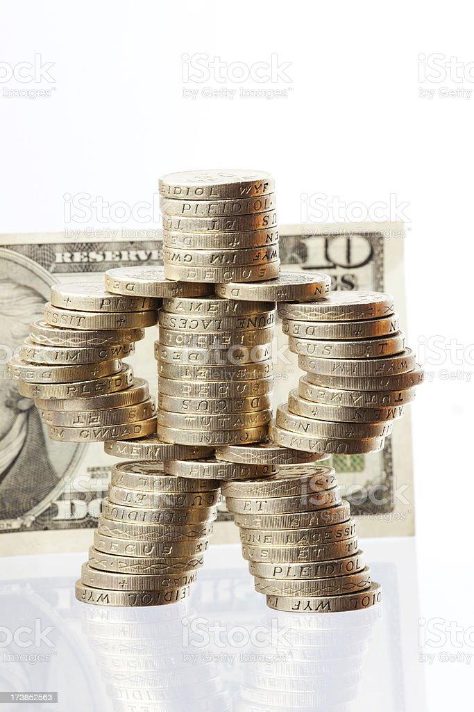 Coin man royalty-free stock photo