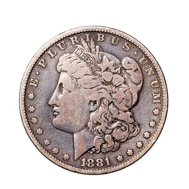US Coin - Morgan Silver Dollar stock photo