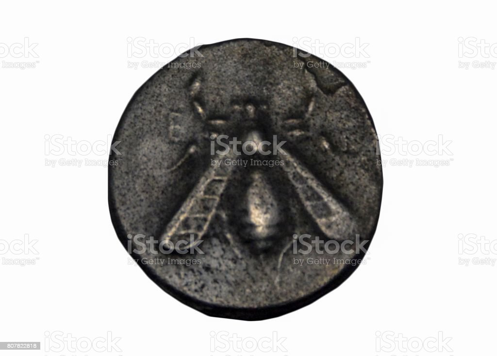 Coin of Ephesus stock photo