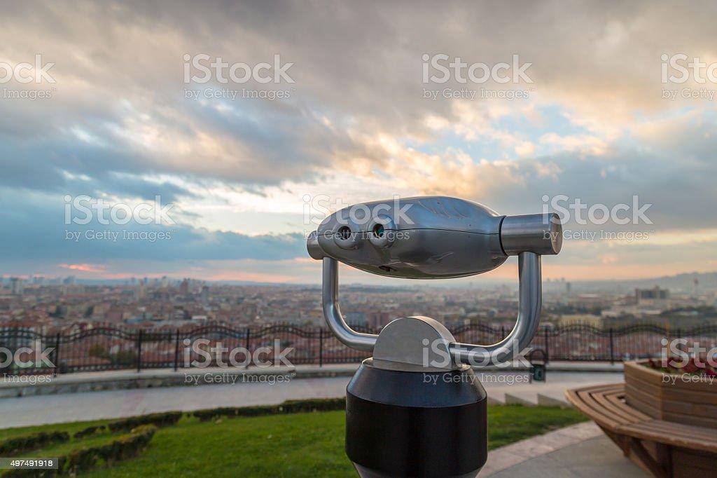 Coin operated binocular stock photo
