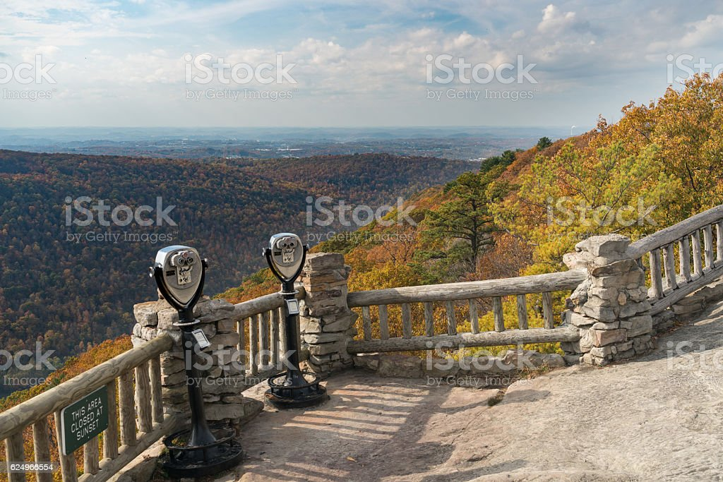 Coin operated binoculars at Coopers Rock stock photo