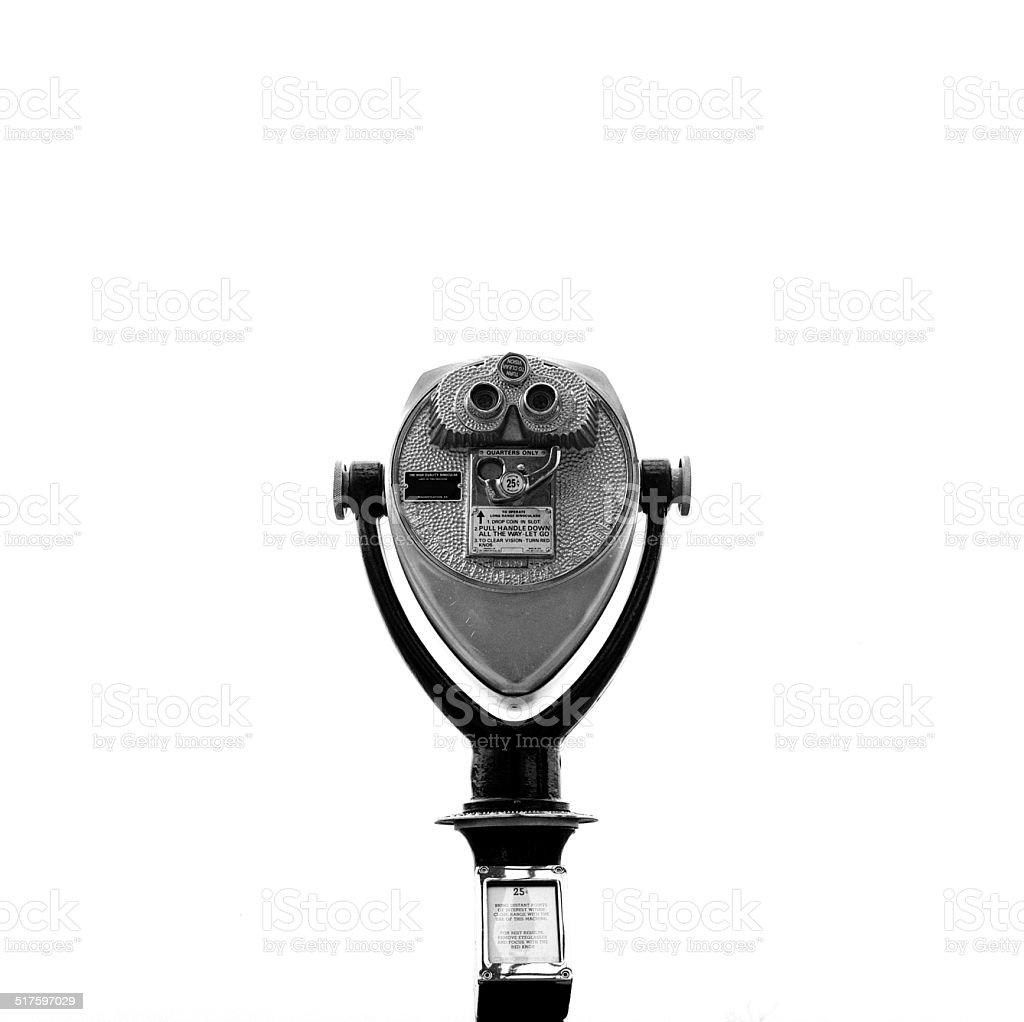 Coin operated binoculars stock photo