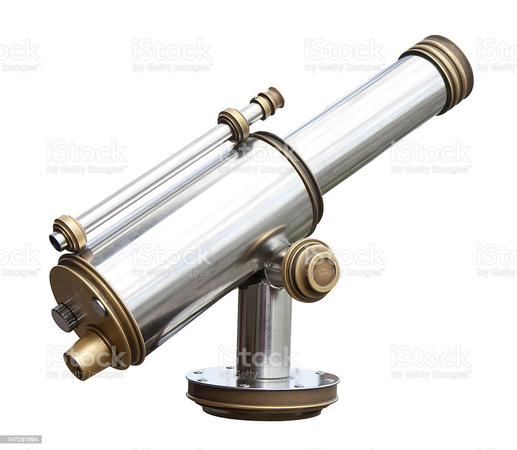 Coin operated monocular stock photo