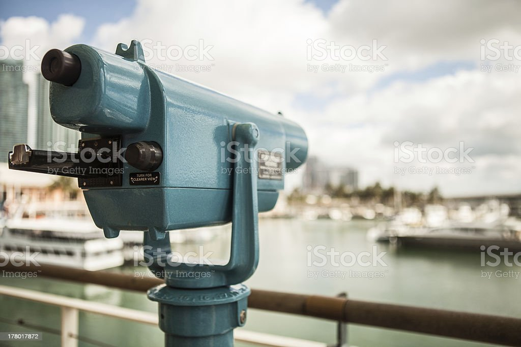Coin operated telescope royalty-free stock photo