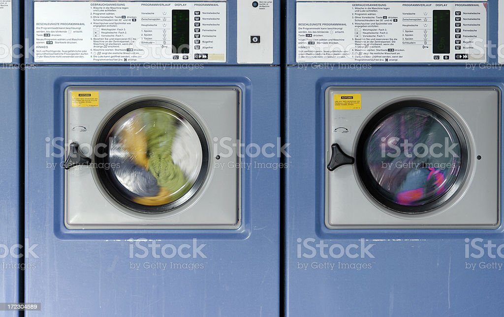 Coin operated washing machines royalty-free stock photo