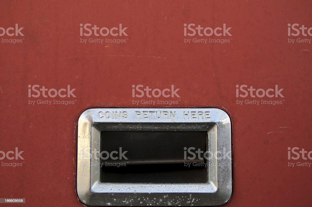 Coin Return Chute stock photo