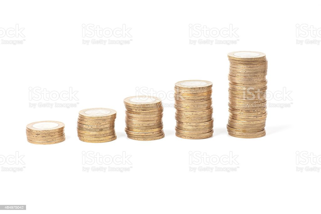 Coin Rise Up stock photo