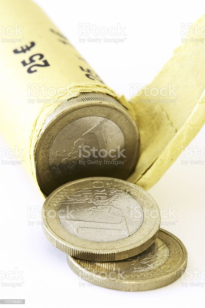 Coin Roll royalty-free stock photo