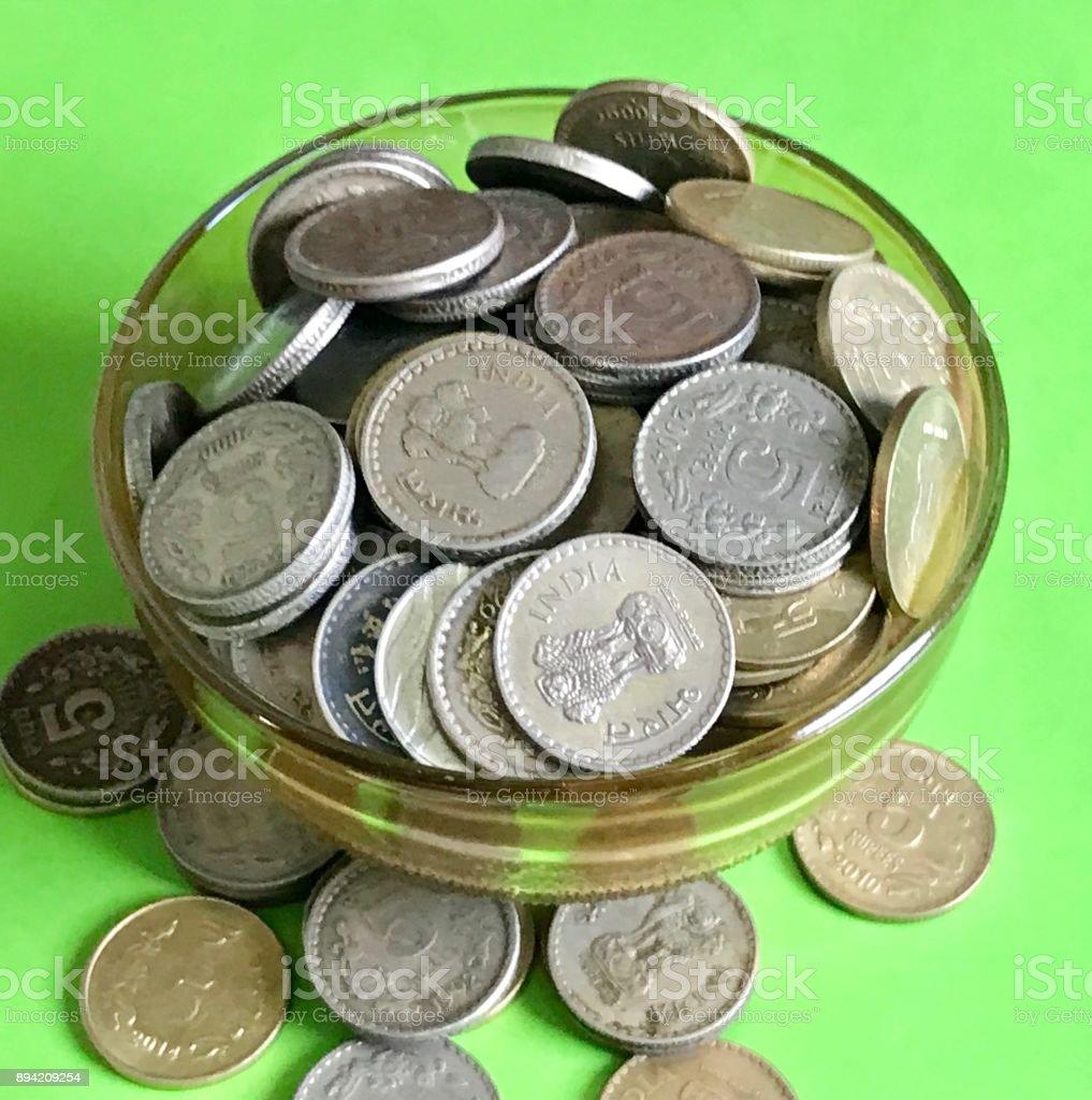 Coin savings stock photo