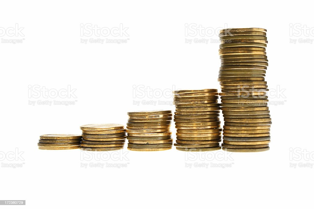 Coin series royalty-free stock photo
