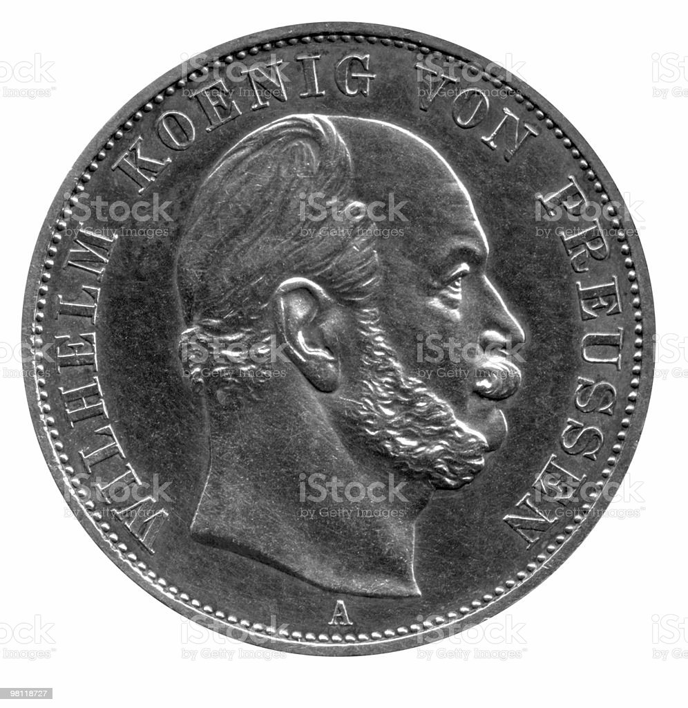coin showing Wilhelm von Preussen royalty-free stock photo