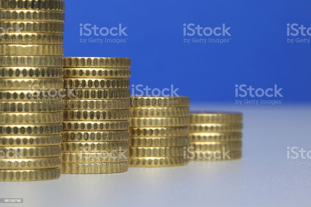 Coin stacks royalty-free stock photo