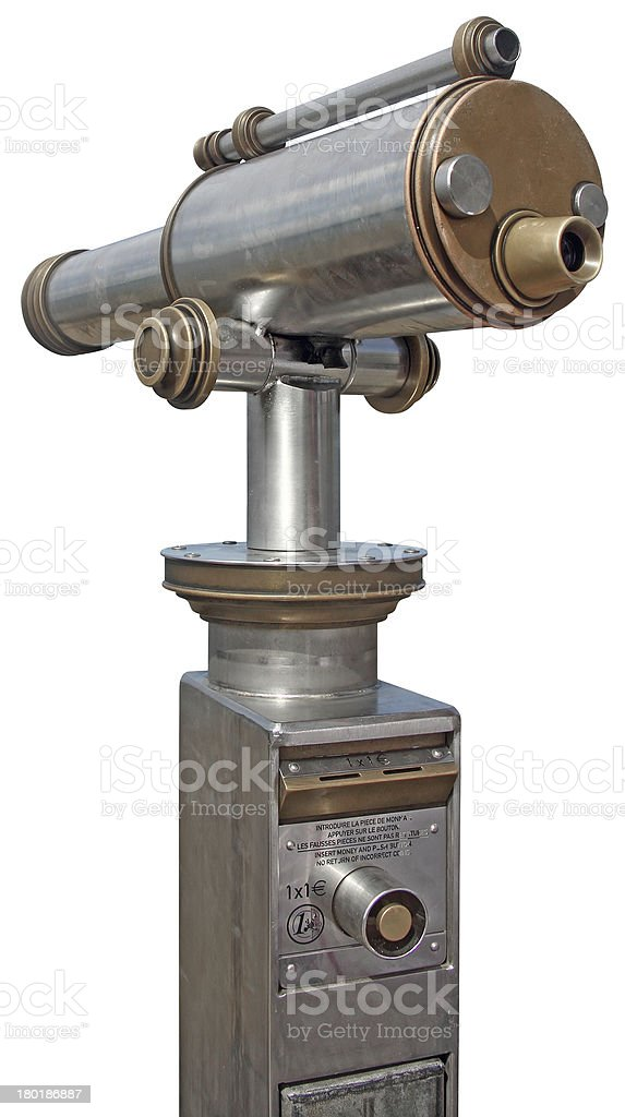 Coin telescope stock photo