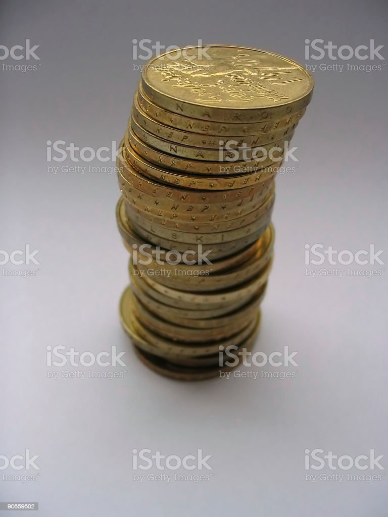 coin tower #2 royalty-free stock photo