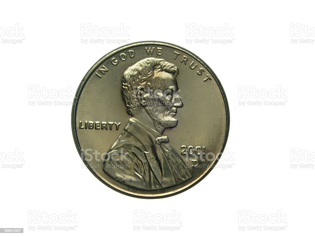 Coin: US Penny royalty-free stock photo