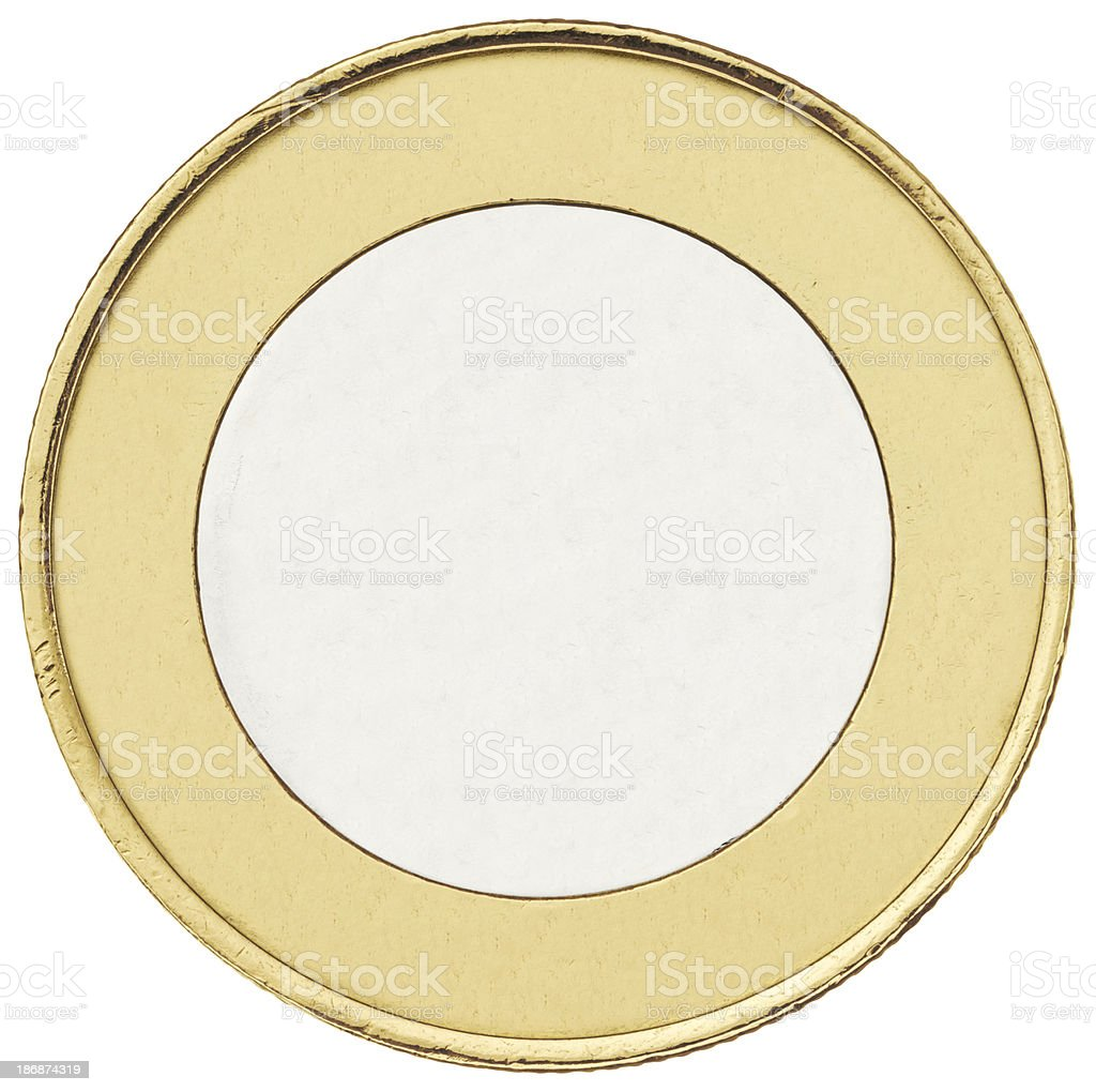 Coin without the engraving of denomination royalty-free stock photo