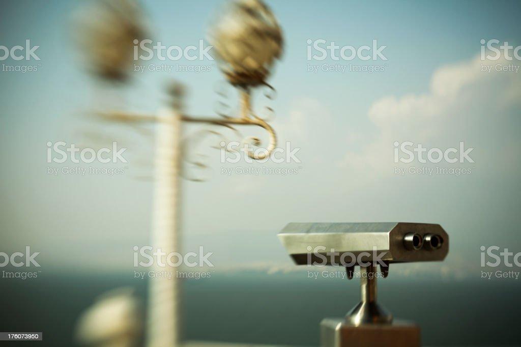 Coincidences and Binoculars stock photo