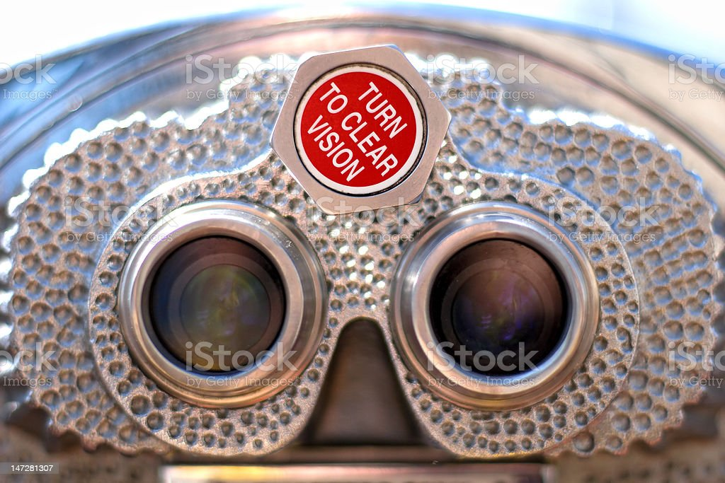 Coin-Operated Binoculars close up stock photo