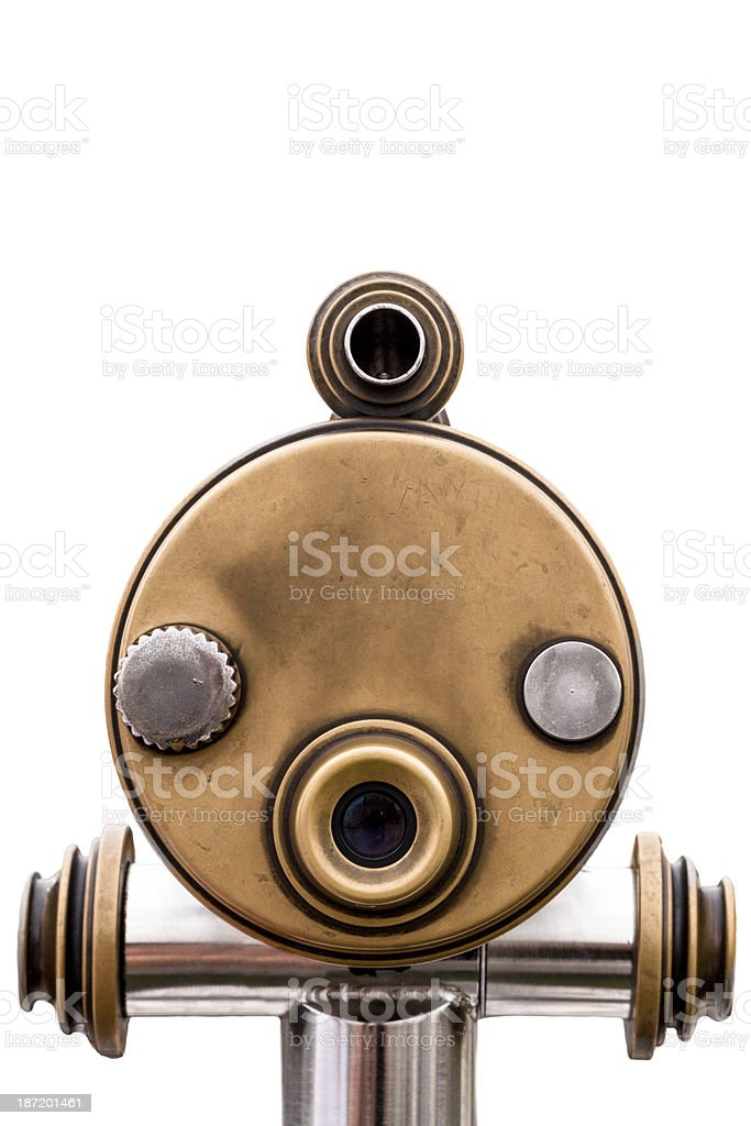 Coin-Operated Binoculars Isolated on White royalty-free stock photo