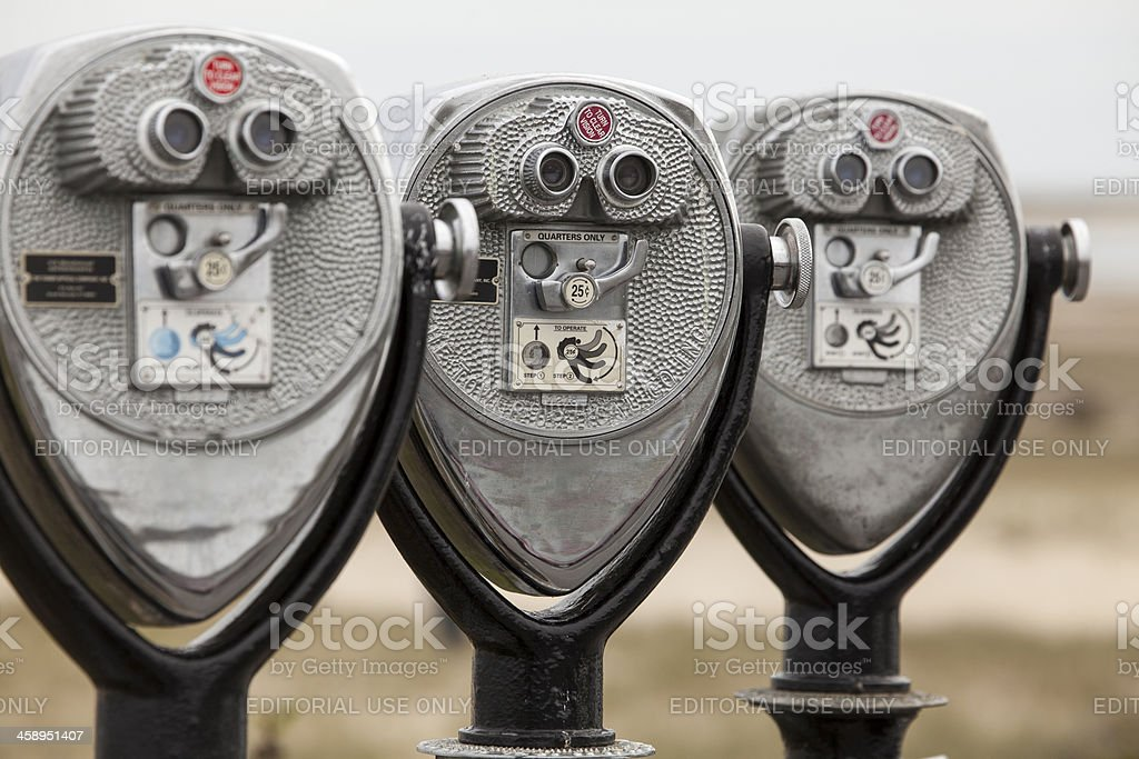 Coin-operated binoculars stock photo